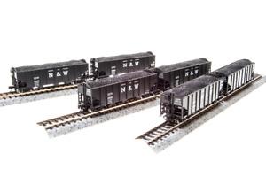 """BLI (3647/N-Scale) N&W 24"""" Lettering 3-Bay Hopper Cars (6 Car Set/6 Car #'s) NIB"""