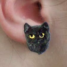 Conversation Concepts Black Shorthaired Tabby Cat Earrings Post