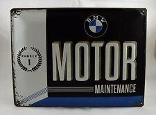 Superb Large Embossed BMW Motor Maintenance Tin Plate Wall Sign VW 40cm x 30cm