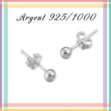 Boucles d'oreilles boule  4-6-10mm, En Argent 925/1000. Réf: ORPL
