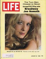 ORIGINAL Vintage Life Magazine January 24 1969 Catherine Deneuve Joe Namath