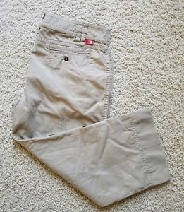 The North Face Outdoor Cotton Cropped Roll up Pants Women's Size 16 Khaki EUC