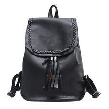 Faux Leather School Bag Travel Small Backpack Satchel Women Shoulder Rucksack