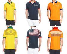 NWT HUGO BOSS Mens Logo USA Brazil Netherland Paddy Flag Polo Shirt ML MSRP
