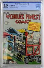 WORLD'S FINEST COMICS #13 CBCS 8.0 Superman Batman 1943 CGC War paper drive cvr