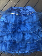 Girls Children kids Blue Layers Tutu Performance Party Anna Cinderella Skirt 6-9