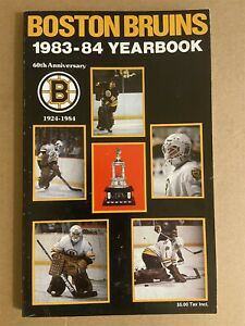 1983-84 BOSTON BRUINS Official Yearbook PETE PETERS Ray BOURQUE Peter McNAB