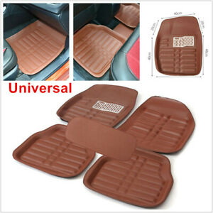 5Pcs Leather Car SUV Floor Mats Floor liner Carpet Mat For All Weather Skidproof