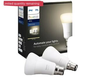 Philips Hue System Smart Bulb Starter Kit (Bridge + 2 White LED e27 Bulbs) NEW