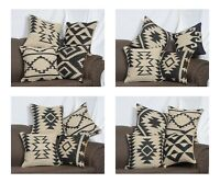 4 Set of Handmade Kilim Vintage Pillows Throw Indian Jute Cushions Cover Mix-9