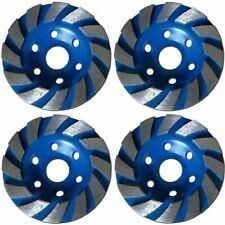 4 Pack 4 Inch 4 Diamond Segment Grinding Cup Wheel Disc Grinder Concrete Gran