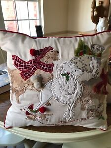 Pier 1 Park Avenue Puppies Square Pillow