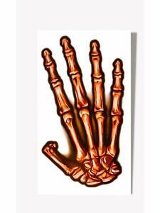 Skeleton Tattoo Bones Hand Fancy Dress Up Halloween Adult Costume Accessory