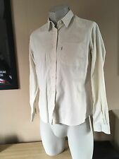 Levi's Levi Strauss & Co White Tab Long Sleeve Cotton Shirt Size Large