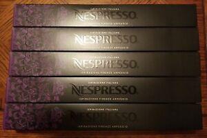 Lot of 5 Nespresso Ispirazione Italiana Firenze Arpeggio Coffee Capsules 50 Ct