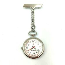 Michael Hill Nurse Watch Pin Brooch 50M Water Resistant Pulse Reading Tool White