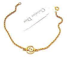 Christian Dior Symbol Bracelet Gold Plated CD Monogram 4 grams