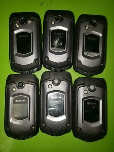 Lot of 6 Kyocera DuraXTP E4281 (Sprint) 3G Ultra Rugged Flip Phone - PARTS ONLY