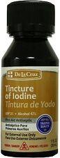 De La Cruz Tincture of Iodine 1 oz