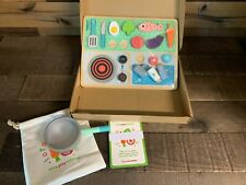 Curious Columbus Kid's Little Play Kitchen Set Sensory Learning Toy NEW