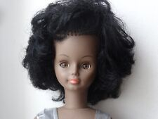 poupée noire ancienne, Sylvette Bella, 48 cm Cathie, Cathy