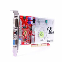 NEW NVIDIA GeForce DDR 256MB FX 5500 8x AGP VGA Video Graphic Card /w DVI TV Out