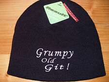 Personalised beanie hat GRUMPY OLD GIT Valentines gift for Men OR YOUR OWN TEXT?