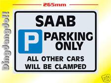 Saab Parking Sign Novelty Gift 9000 900