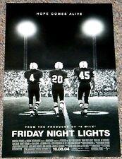 FRIDAY NIGHT LIGHTS 2004 ORIGINAL ADV. 11x17 MINI MOVIE POSTER! FOOTBALL CLASSIC