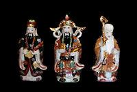 3 Saggi Cinese Dieu Fuk Luk Sau Fu Lu Shou Porcellana Da Cina H27cm 5270