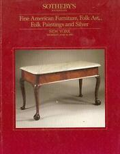 Sotheby's Americana Furniture Folk Art Silver1986