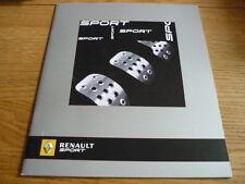 Renault Clio 197, Megane Sport 225, Megane Copa, Megane F1 230 folleto Jm