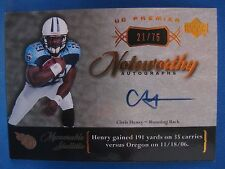 CHRIS HENRY 2007 UD PREMIER NOTEWORTHY AUTOGRAPH BRONZE #21/75
