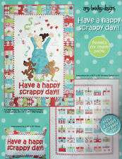 Have a Happy Scrappy Day!!  quilt wall-hanging pattern by Amy Bradley