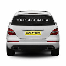 Name Rear Car Exterior Styling Decals