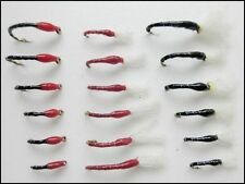 Epoxy Buzzer Trout Fishing Flies, 18 Pack Red & Black, Mixed Size 3 varieties