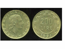 ITALIE 200 lire  1991  ( bis )