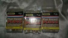 "Lot of 3 general tools flat head plugs (45 ct) 1/2"""