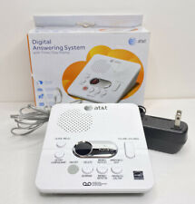 AT&T 1740 Digital Answering System with Time and Day Stamp White Tested Working