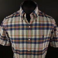 Ralph Lauren Mens Shirt MEDIUM Long Sleeve Regular Fit Check Cotton