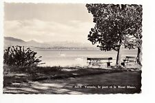 SUISSE SWITZERLAND canton GENEVE VERSOIX carte photo des années 50 le port