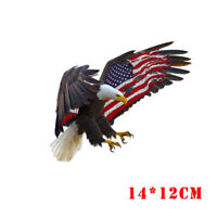 1x Cool Bald Eagle USA American Flag Sticker Car Truck Window Bumper Decoration