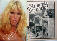 AMANDA LEAR => COUPURE DE PRESSE 2 pages 1979 // FRENCH CLIPPING !!!