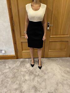 Chanel Ivory & Black Silk Blend Dress/40/Fit UK 10 Best
