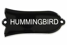 "Engraved ""HUMMINGBIRD"" Truss Rod Cover for Gibson Guitars 2ply B/W"