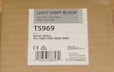 GENUINE EPSON T5969 Light Light Black cartridge ORIGINAL 350ml ink C13T596900