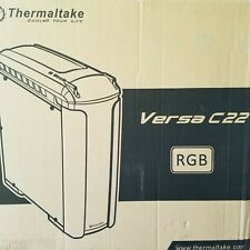 Thermaltake Versa C22 RGB Computer Mid Tower Case Snow White Gaming Window