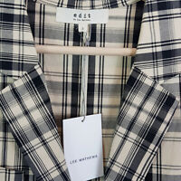 EDIT By LEE MATHEWS | Womens Check Jacket NEW $279 [ Size 2 or AU 10 / US 6 ]