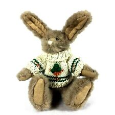 Vintage The Boyds Collection Bunny Animal Jointed with Carrot Sweater Easter