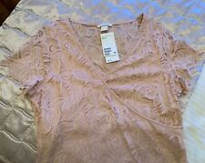 H&M Mama Lace Dress Maternity Stretch Fabric Size XL New